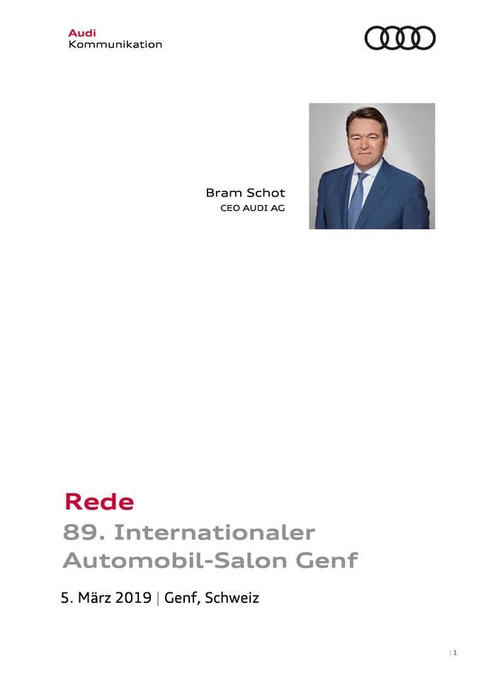 Rede 89. Internationaler Automobil-Salon Genf