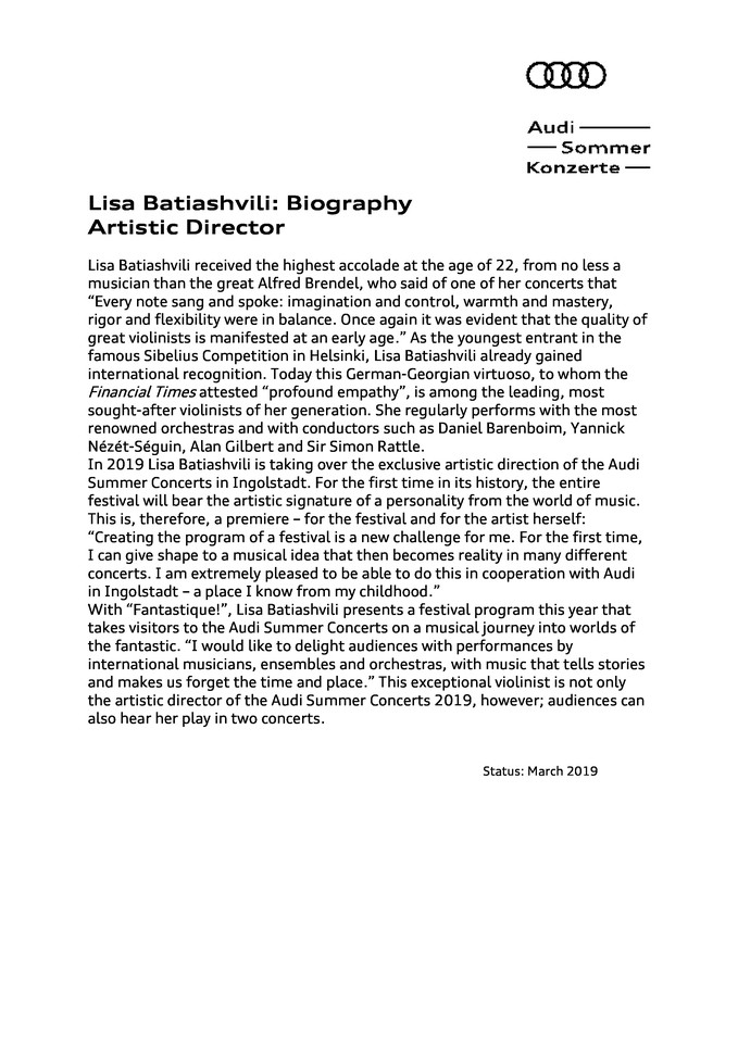 Biography Lisa Batiashvili