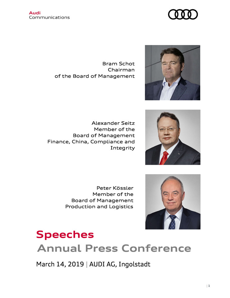 Speeches Annual Press Conference 2019