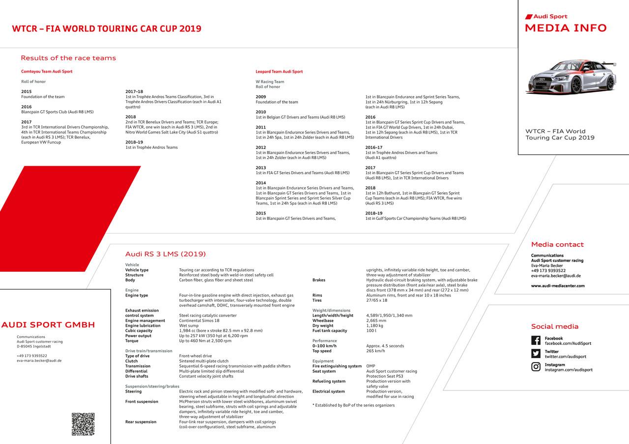 Media Z-Card WTCR – FIA-Tourenwagen-Weltcup 2019