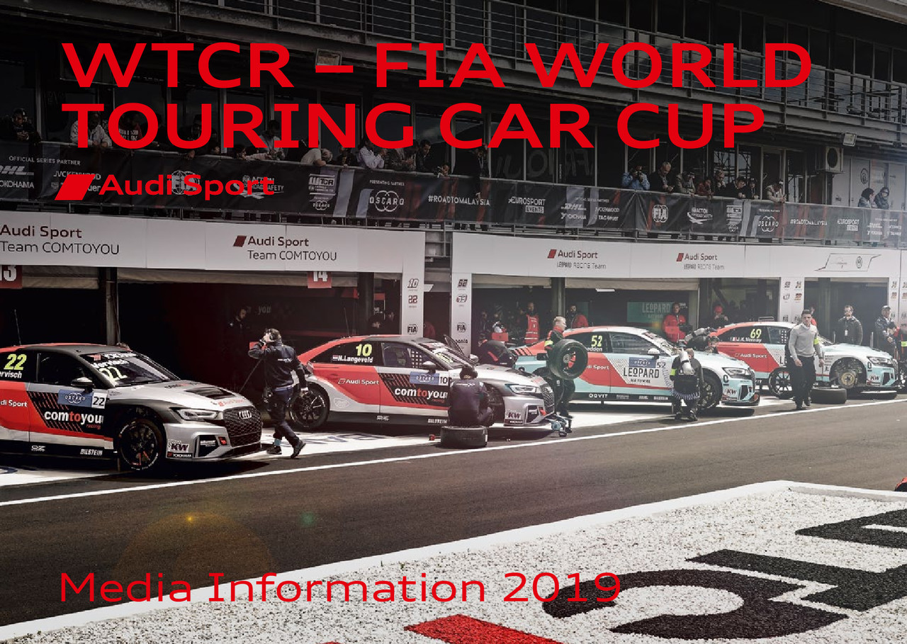 Media Information WTCR – FIA World Touring Car Cup 2019 (englisch)