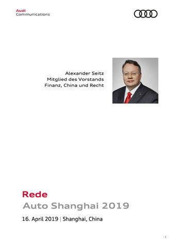 Rede Auto Shanghai 2019