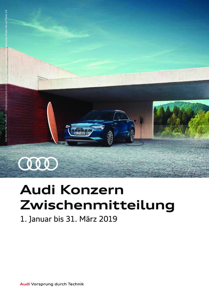 Audi Konzern Zwischenmitteilung