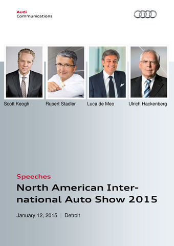 Speeches Audi Press Conference North American International Auto Show 2015