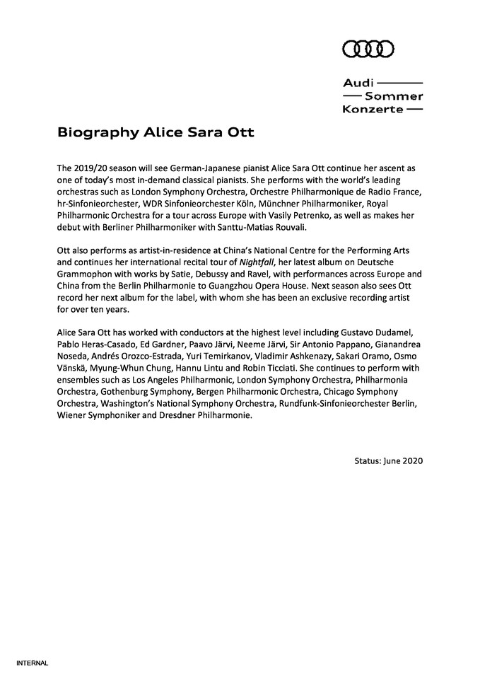 Biography Alice Sara Ott