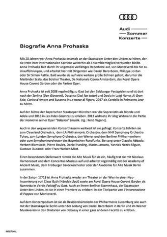 Biografie Anna Prohaska