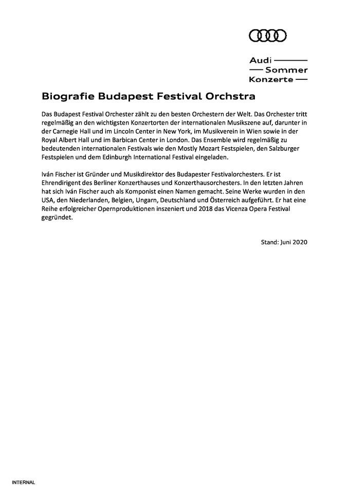 Biografie Budapest Festival Orchstra