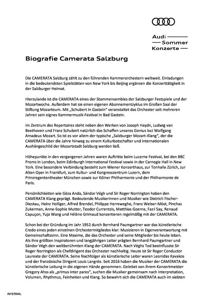 Biografie Camerata Salzburg