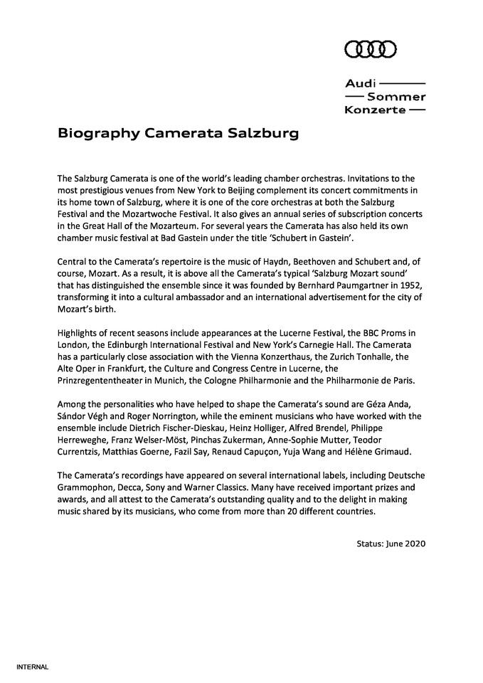 Biography Camerata Salzburg