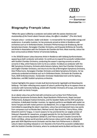 Biography François Leleux