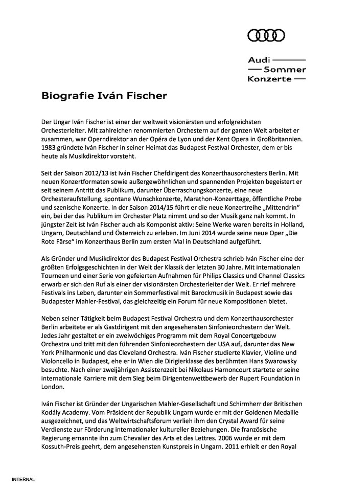 Biografie Iván Fischer