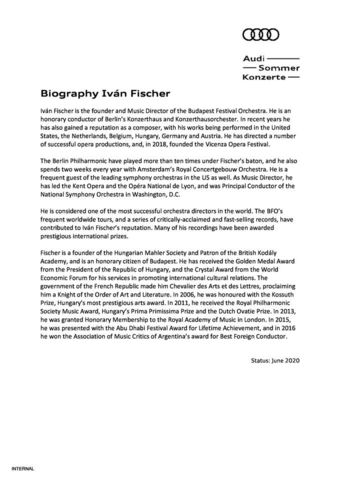 Biography Iván Fischer
