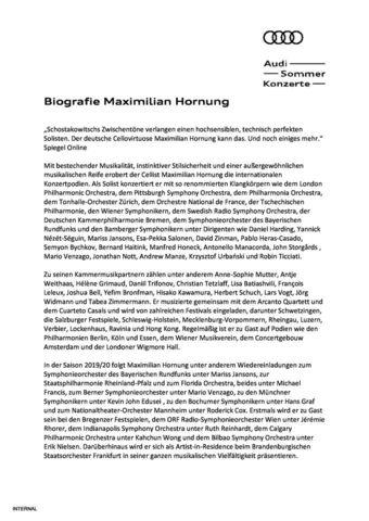 Biografie Maximilian Hornung