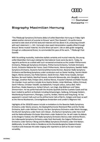 Biography Maximilian Hornung