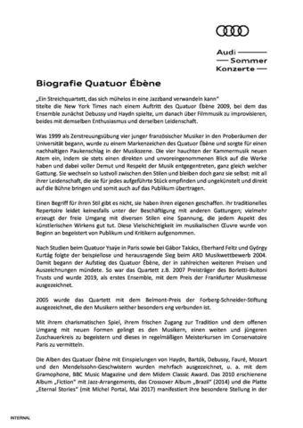 Biografie Quatuor Ébène
