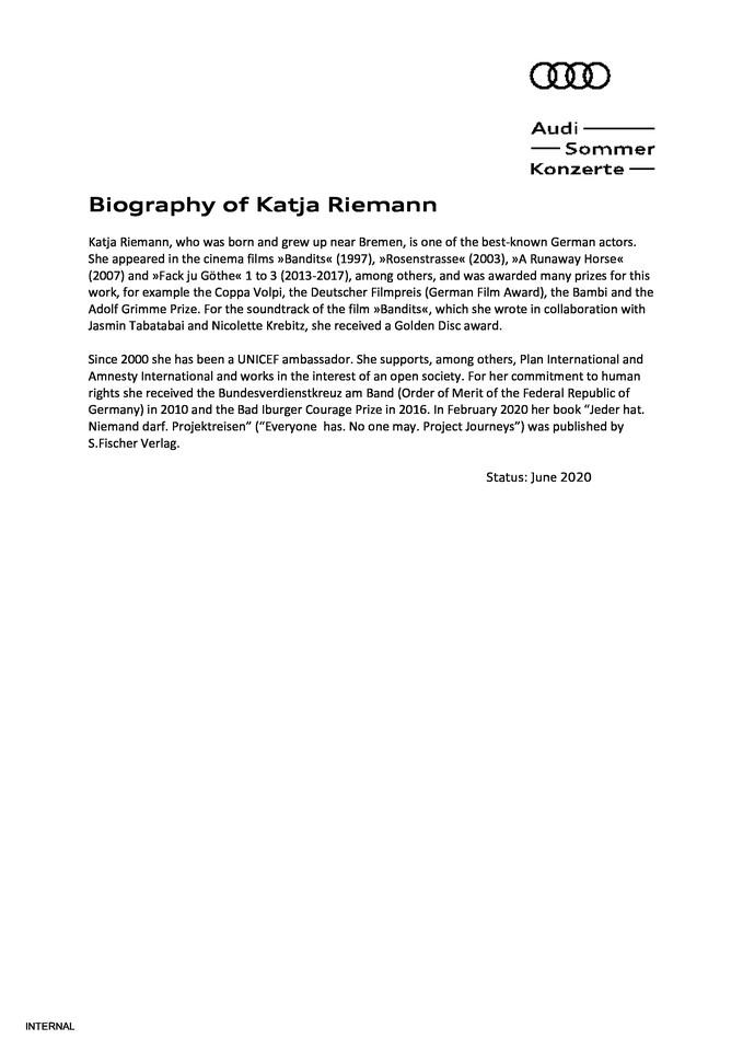 Biography Katja Riemann
