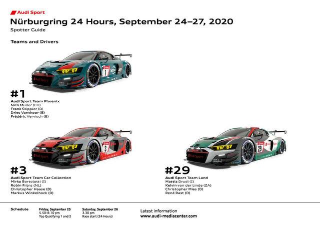 24h Nürburgring 2020 Spotter Guide